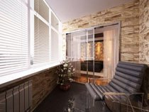 ремонт, отделка балкона в Рязани